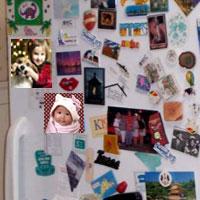hűtőmágnes családi fotókból is