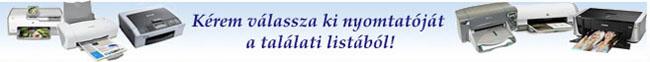 Válassza ki nyomtatóját a listából