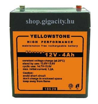 Zselés akkumulátor 12V? 4 Ah