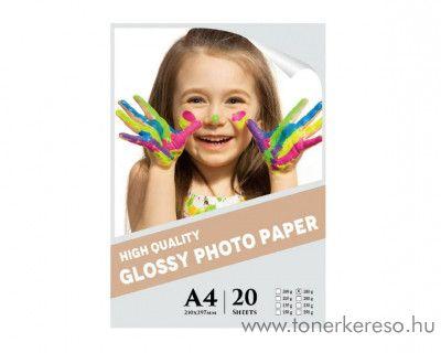 20 lap A4-es 180g Premium Glossy fotópapír