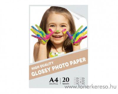 20 lap A4-es 230g Premium Glossy fotópapír