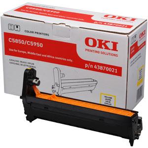 Oki 43870021 dobegység Yellow (C5850, C5950) Oki C5950 lézernyomtatóhoz