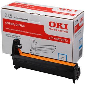 Oki 43870023 dobegység Cyan (C5850, C5950) Oki C5850 lézernyomtatóhoz