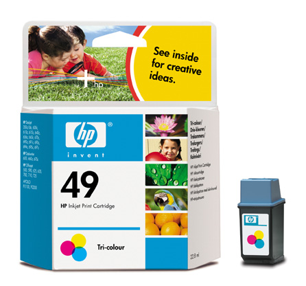 HP 51649A (No. 49) Color tintapatron HP OfficeJet 520 tintasugaras nyomtatóhoz