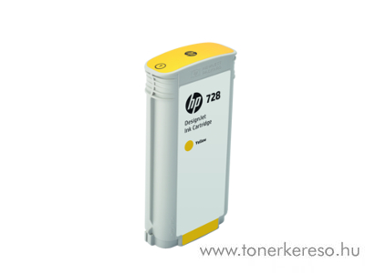 HP DesignJet T730/T830 (728) eredeti yellow tintapatron F9J65A HP DesignJet T730 tintasugaras nyomtatóhoz