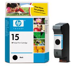HP C6615DE Bk (No. 15) tintapatron