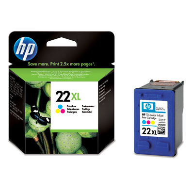 HP C9352CE (No. 22XL) tintapatron  	 HP Deskjet F2200 All-in-One Series tintasugaras nyomtatóhoz