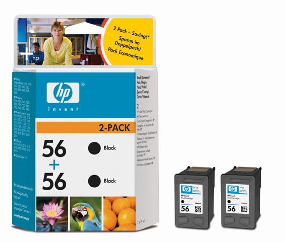 HP C9502A BK 2 x (No. 56) tintapatron