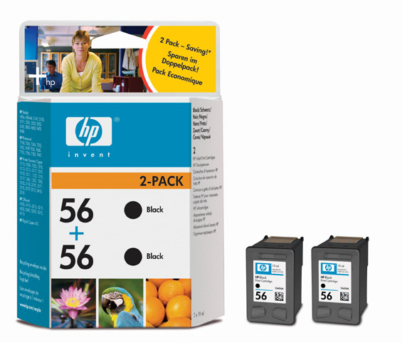 HP C9502A BK 2 x (No. 56) tintapatron HP OfficeJet J5508 tintasugaras nyomtatóhoz