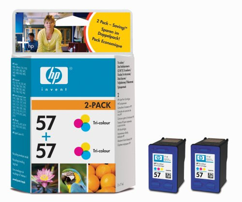 HP C9503A 2 x (No. 57) tintapatron HP PSC 4110 tintasugaras nyomtatóhoz
