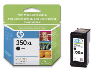 HP CB336EE (No. 350XL) Bk tintapatron HP Photosmart C5400 tintasugaras nyomtatóhoz