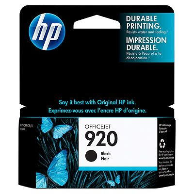 HP CD971AE (No. 920) Bk tintapatron HP Officejet 7000 series tintasugaras nyomtatóhoz