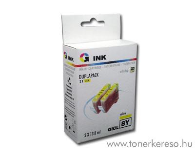 Canon CLI8Y yellow dupla utángyártott chipes patroncsomag G-Ink Canon PIXMA MP600R tintasugaras nyomtatóhoz