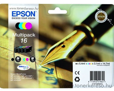 Epson 16 eredeti multipack csomag T16264010 Epson WorkForce WF-2660DWF tintasugaras nyomtatóhoz