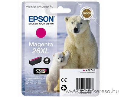 Epson 26XL eredeti magenta tintapatron T26334010