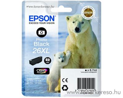 Epson 26XL eredeti photo fekete tintapatron T26314010 Epson Expression Premium XP-605 tintasugaras nyomtatóhoz