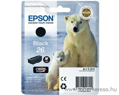 Epson 26 eredeti fekete tintapatron T26014010 Epson Expression Premium XP-605 tintasugaras nyomtatóhoz