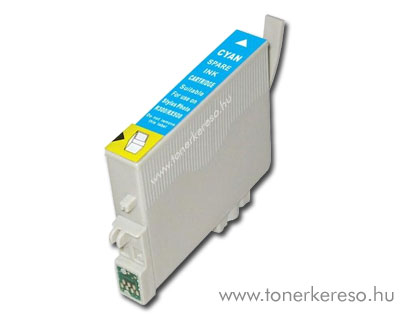 Epson T0802 cyan utángyártott tintapatron OP Epson Stylus Photo PX720WD tintasugaras nyomtatóhoz