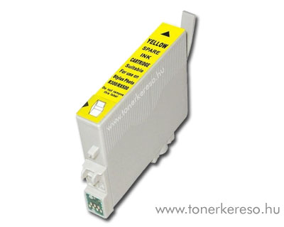 Epson T0804 yellow utángyártott tintapatron OP Epson Stylus Photo RX585 tintasugaras nyomtatóhoz