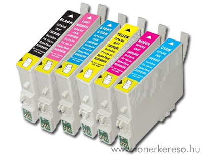 Epson T0807 multipack utángyártott tintapatron csomag OP Epson Stylus Photo RX585 tintasugaras nyomtatóhoz
