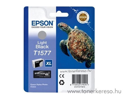 Epson Tintapatron T1577 light black Epson Stylus Photo R3000 tintasugaras nyomtatóhoz