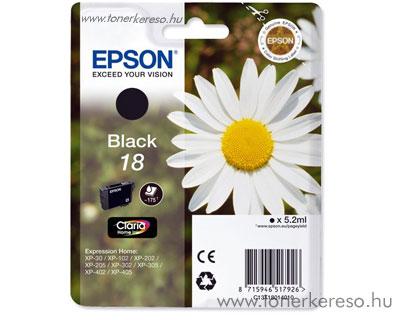 Epson T1801 (18) eredeti fekete tintapatron T18014010 Epson Expression Home XP-212 tintasugaras nyomtatóhoz