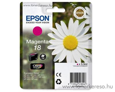 Epson T1803 (18) eredeti magenta tintapatron T18034010 Epson Expression Home XP-405 tintasugaras nyomtatóhoz