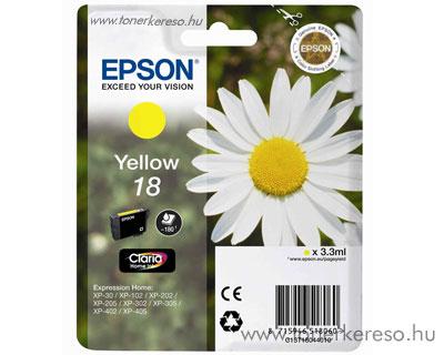 Epson T1804 (18) eredeti yellow tintapatron T18044010 Epson Expression Home XP-422 tintasugaras nyomtatóhoz