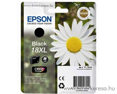 Epson T1811 (18XL) eredeti nagykap. fekete tintapatron T18114010 Epson Expression Home XP-322 tintasugaras nyomtatóhoz