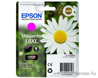 Epson T1813 (18XL) eredeti nagykap. magenta tintapatron T1813401 Epson Expression Home XP-202 tintasugaras nyomtatóhoz