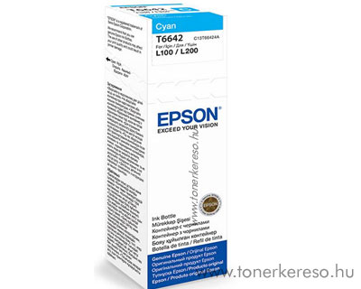 Epson Tinta cyan T66424A Epson L210 MFP tintasugaras nyomtatóhoz