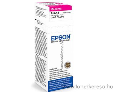 Epson Tinta magenta T66434A Epson L210  tintasugaras nyomtatóhoz