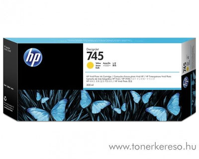 HP Designjet Z2600 (745) eredeti yellow tintapatron F9K02A HP DesignJet Z5600 tintasugaras nyomtatóhoz