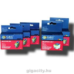 Epson C43/C41 tintapatron csomag G&G GGT038P Epson Stylus C41 tintasugaras nyomtatóhoz