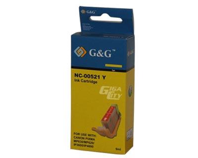 Canon CLI 521 yellow tintapatron G&G CLI-521Y