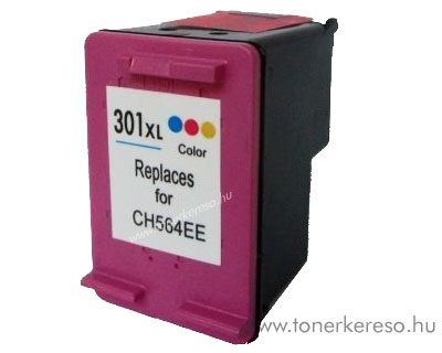 HP CH564 No. 301XL színes kompatibilis tintapatron G-Ink HP Deskjet 3050A tintasugaras nyomtatóhoz
