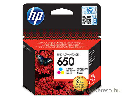 HP CZ102AE  (No. 650) színes tintapatron HP Deskjet Ink Advantage 2540 All-in-One tintasugaras nyomtatóhoz
