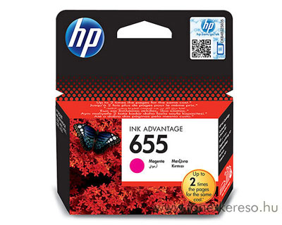 HP CZ111AE  (No. 655) magenta tintapatron HP Deskjet Ink Advantage 4615 tintasugaras nyomtatóhoz