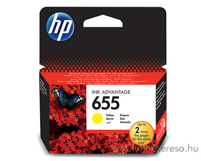 HP CZ112AE  (No. 655) yellow tintapatron HP Deskjet Ink Advantage 4625 tintasugaras nyomtatóhoz