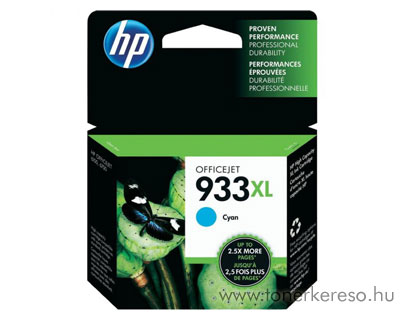 HP CN054AE (No. 933XL) cyan tintapatron HP Officejet 7612 Wide Format e-All-in-One tintasugaras nyomtatóhoz