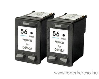HP 9502  kompatibilis dupla 6656 (No. 56) csomag kedvezményes HP PSC 4110 tintasugaras nyomtatóhoz