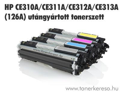 HP CE310A/311A/312A/313A (126A) utángyártott tonercsomag/pack