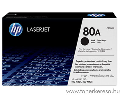 HP CF280A (No. 80A) eredeti toner Bk fekete (LaserJet Pro 400) HP Laserjet Pro 400 MFP M425dw lézernyomtatóhoz