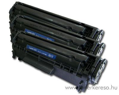 HP Q2612A utángyártott/kompatibilis lézertoner tripla csomag OP HP LaserJet 1010 lézernyomtatóhoz