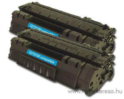 HP Q7553X utángyártott/kompatibilis lézertoner dupla csomag OP HP LaserJet P2015N lézernyomtatóhoz