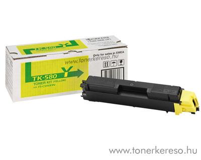 Kyocera TK580 Y eredeti yellow toner FS5150DN 1T02KTYNL0 Kyocera Mita FS-C5150 lézernyomtatóhoz