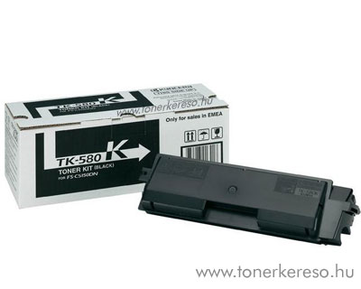 Kyocera TK580 Bk eredeti fekete toner FS5150DN 1T02KT0NL0 Kyocera Mita FS-C5150 lézernyomtatóhoz