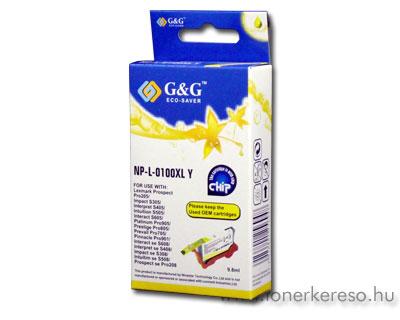 Lexmark 100XL yellow utángyártott tintapatron G&G