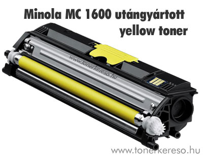 Minolta MagiColor 1600 Y yellow kompatibilis/utángyártott toner Minolta Magicolor 1600w lézernyomtatóhoz