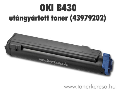 Oki 43979202 kompatibilis toner fekete (B430) OP Oki MB470 lézernyomtatóhoz